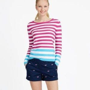 VINEYARD VINES Striped Pink Blue Sweater
